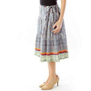 Anthropologie Sundance midi tie skirt